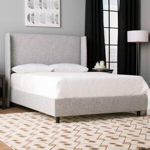 amendola upholstered panel bed - Padded Bed Frame