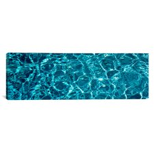 Panoramic Swimming Pool Ripples Sacramento California Photographic Print on Wrapped Canvas