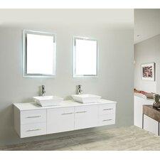 "Totti Wave 72"" Double Bathroom Vanity Set"
