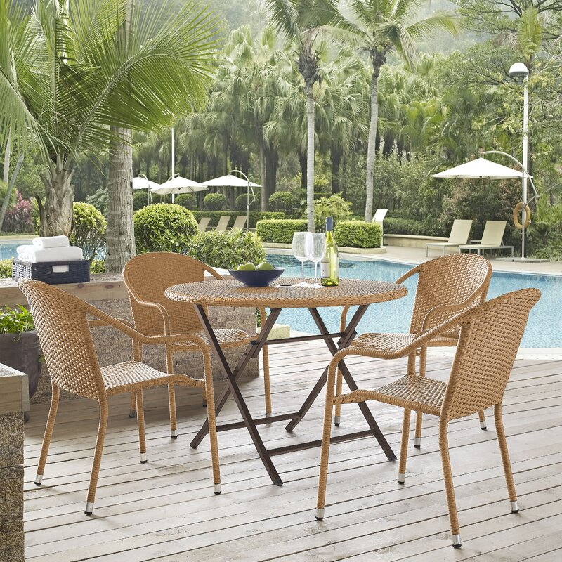 Bay Isle Home Palm City 5 Piece Dining Set