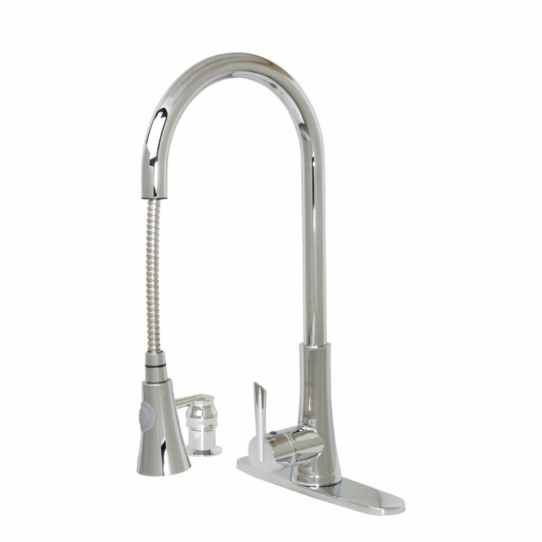 Dyconn Faucet Modern Kitchen Bathroom Pull Out Faucet With Soap Dispenser Reviews