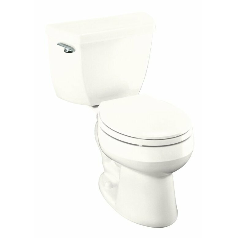 Toilet Flush Cover : Kohler wellworth classic two piece round front gpf