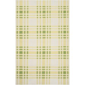 Happy Cottage Yellow Plaid Area Rug