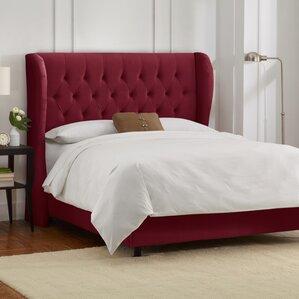 sainte chappelle tufted velvet upholstered panel bed - Velvet Bed Frame