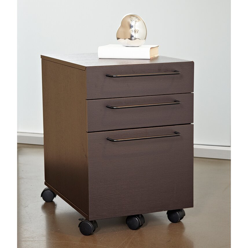 Haaken furniture tribeca 3 drawer mobile vertical filing for Mobile furniture