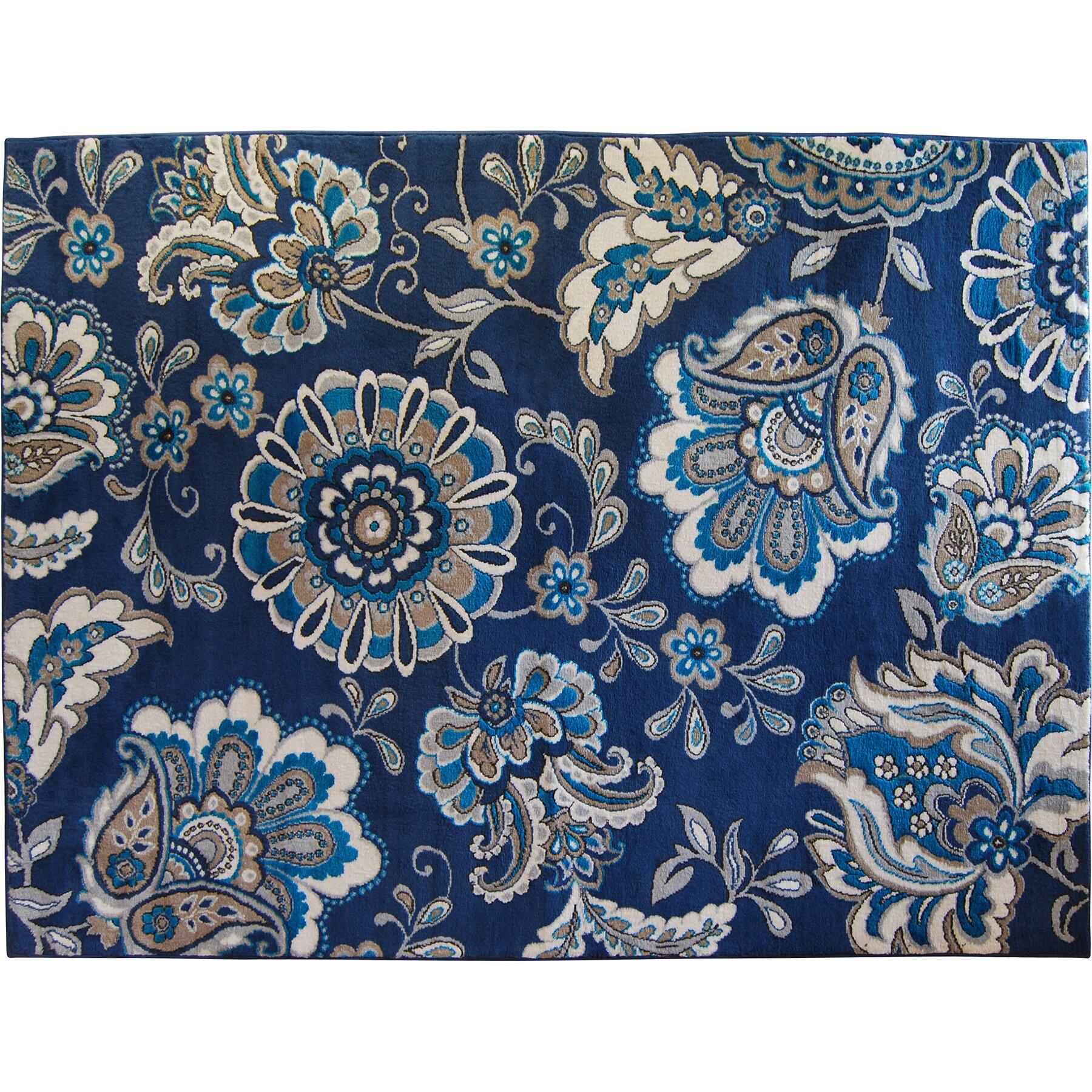 Cobalt Blue Area Rug Furniture Shop