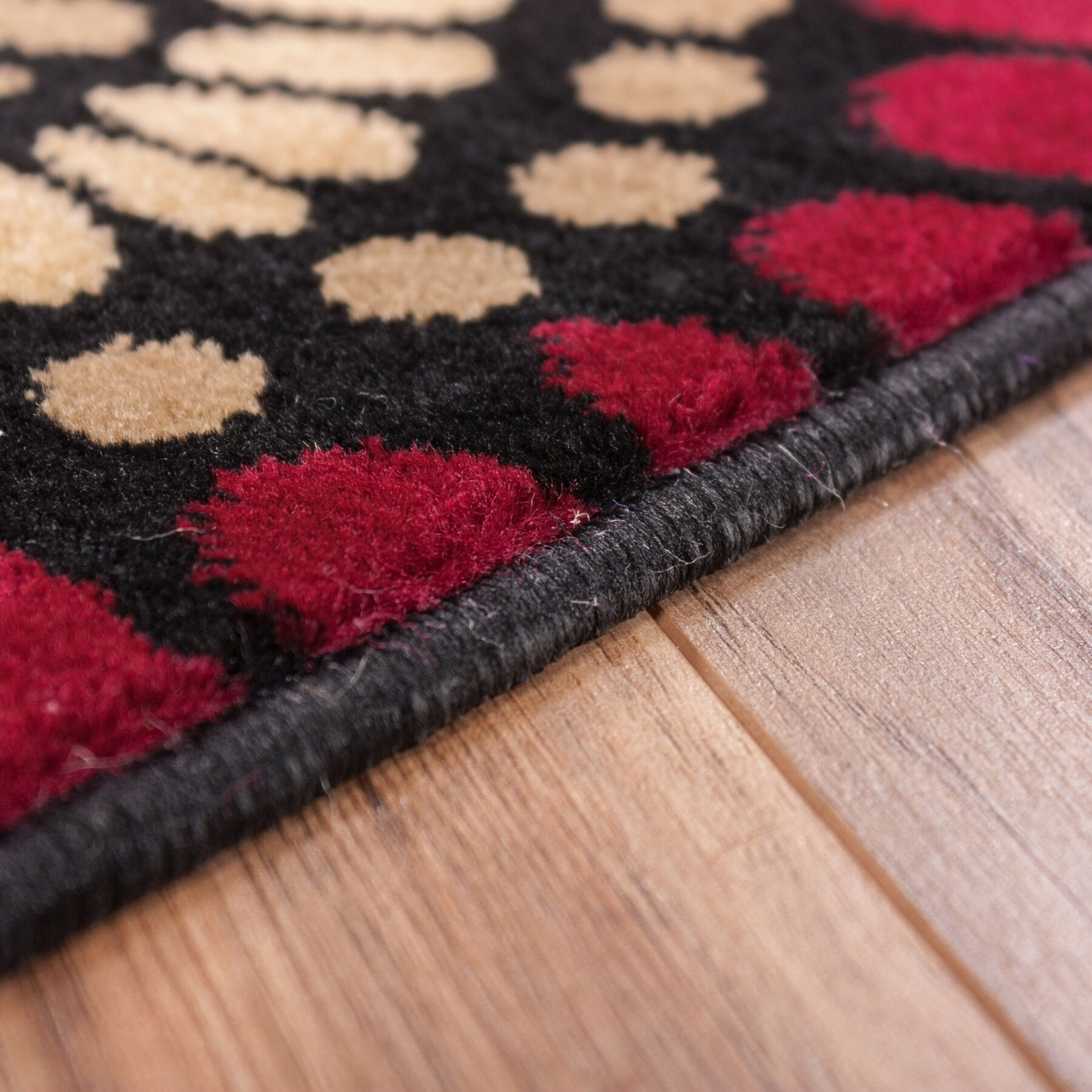 Well Woven Barclay Orchid Black Fields Dots Area Rug
