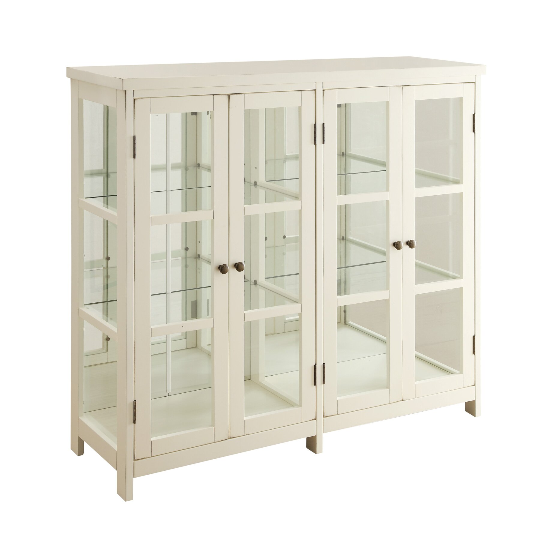 Accent cabinet with glass doors - 4 Door Accent Cabinet