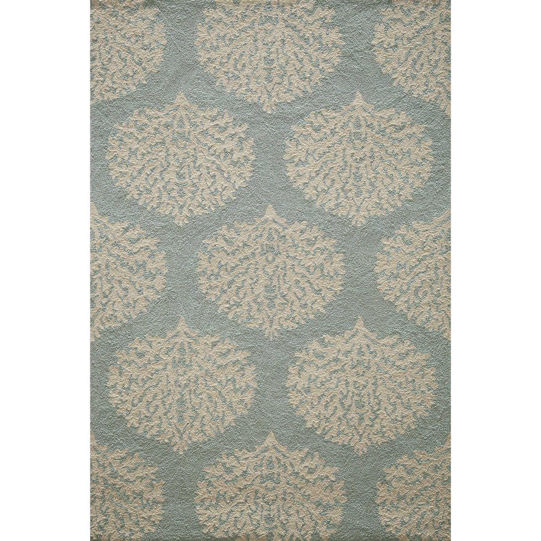 Birch lane hand woven blue indoor outdoor area rug for Woven vinyl outdoor rugs