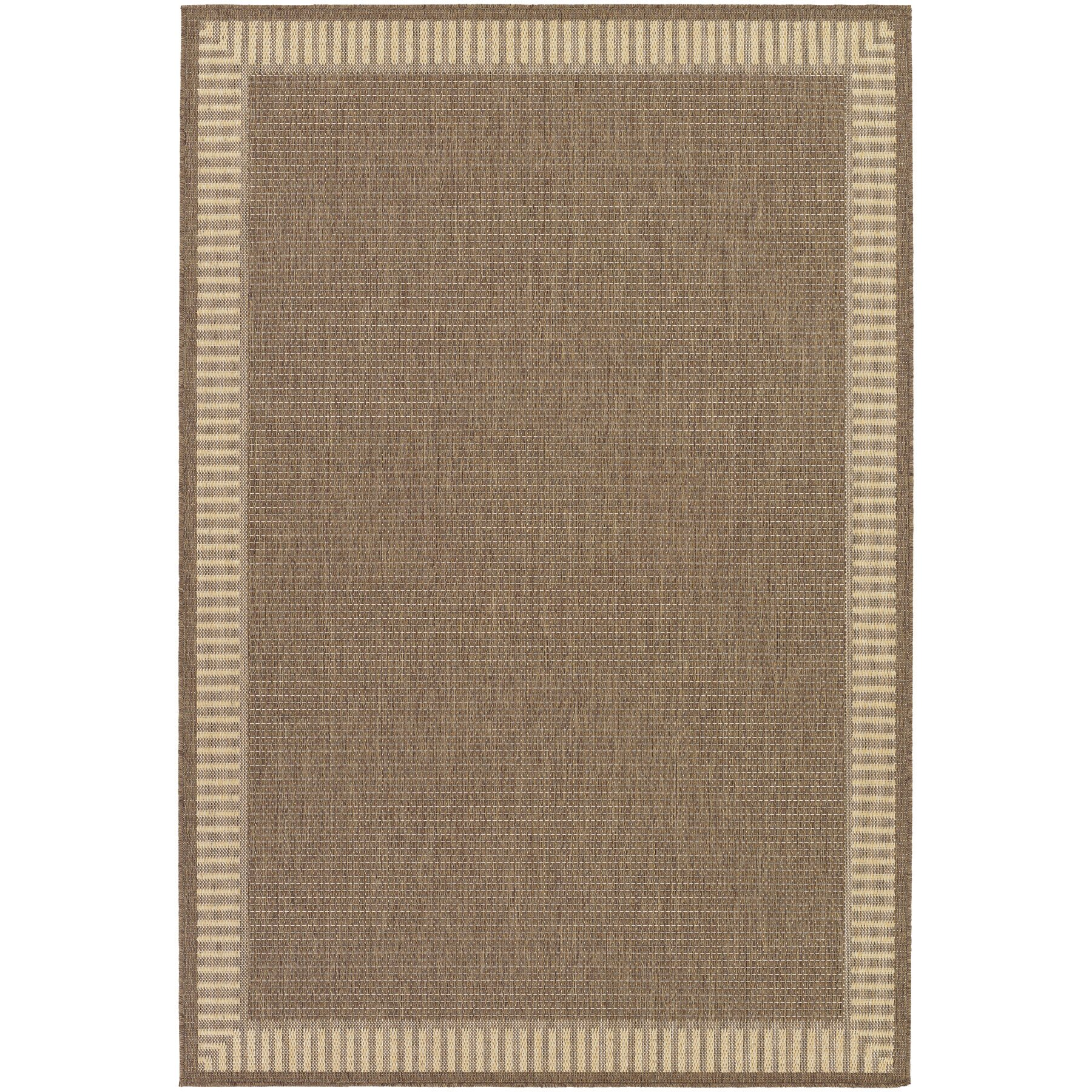 Charlton home westlund wicker stitch cocoa natural indoor for Dining room rugs 9x12
