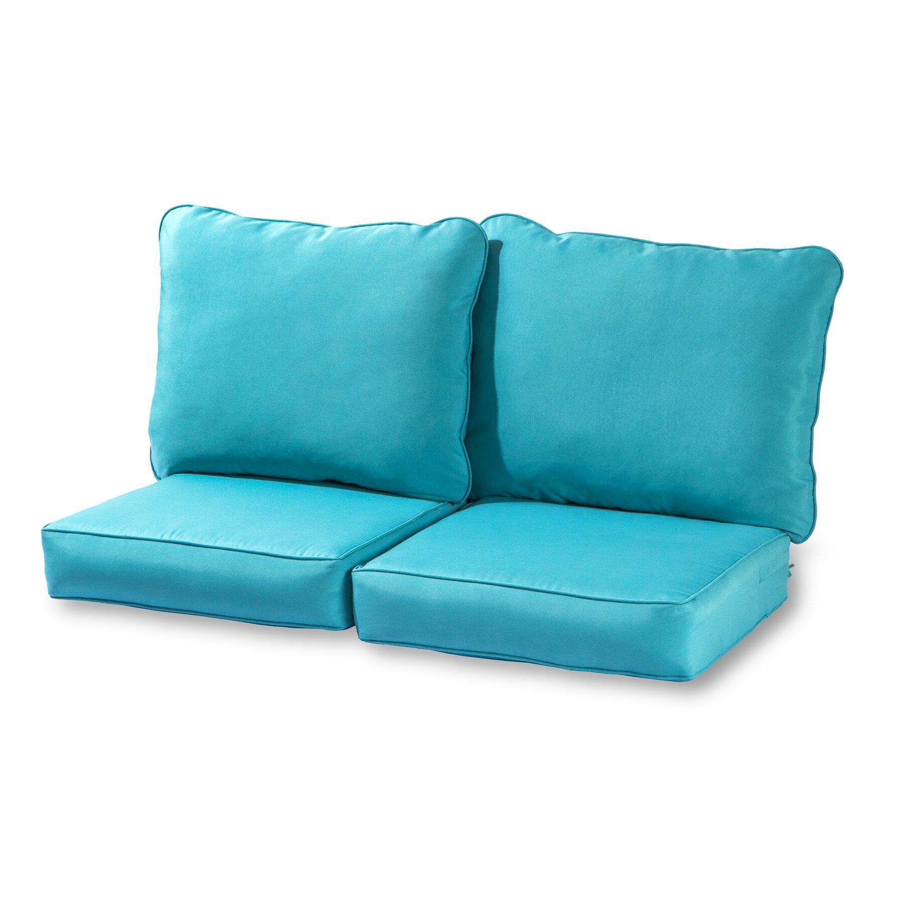 Greendale Home Fashions Deep Seat Loveseat Cushion Set Wayfair