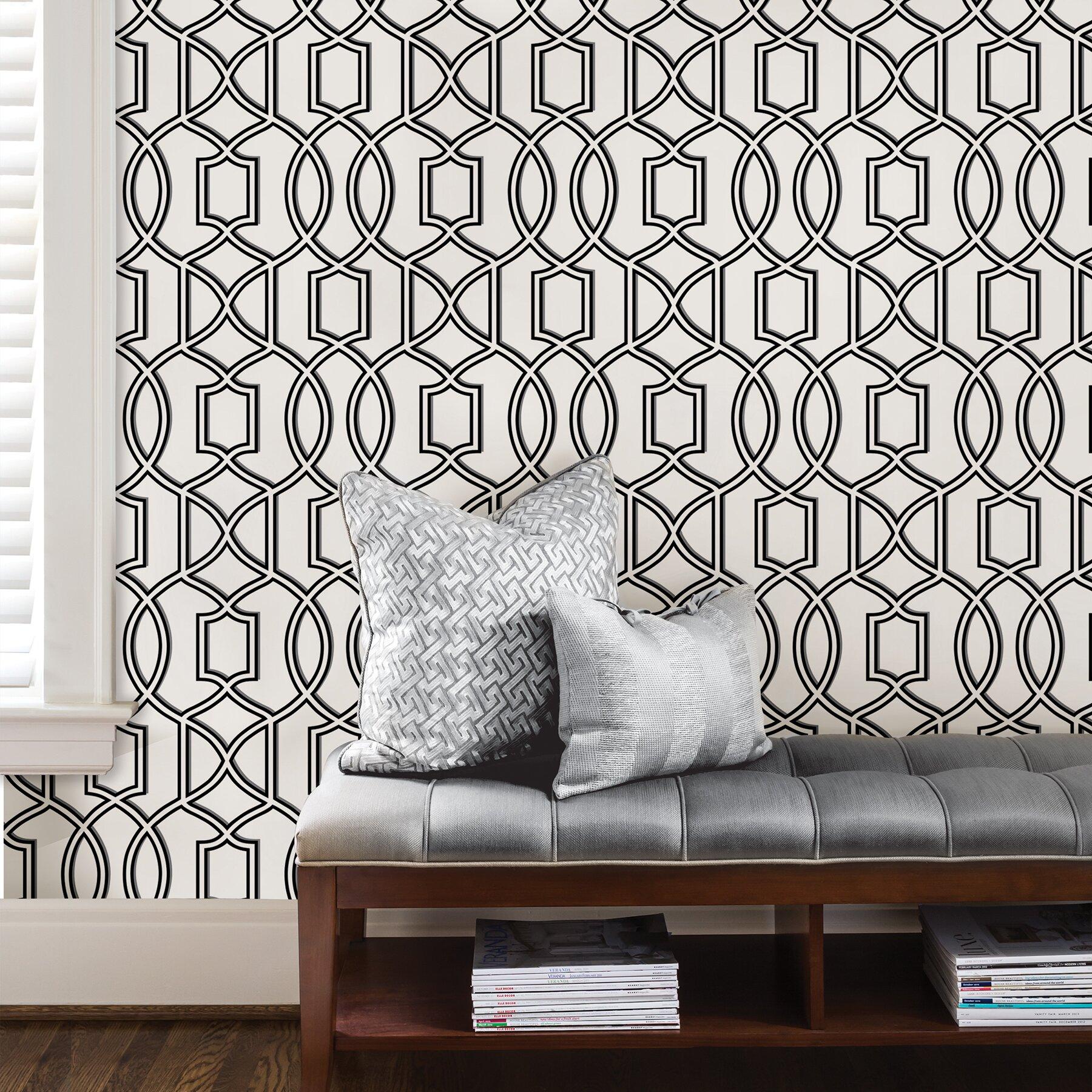 Wallpops Nu 18 X 20 5 Uptown Trellis Black White Peel HD Wallpapers Download Free Images Wallpaper [1000image.com]