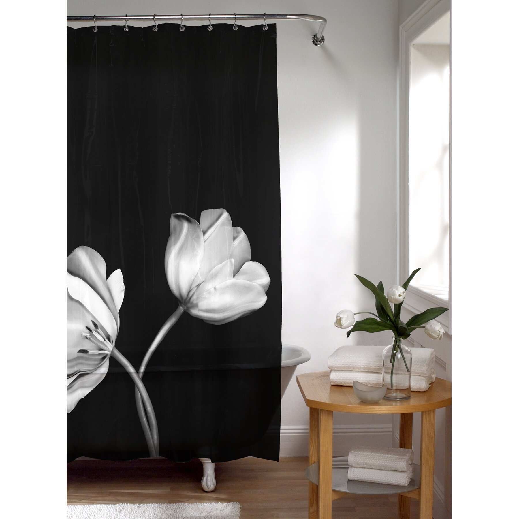 Black and tan shower curtains -  Black And Tan Shower Curtains