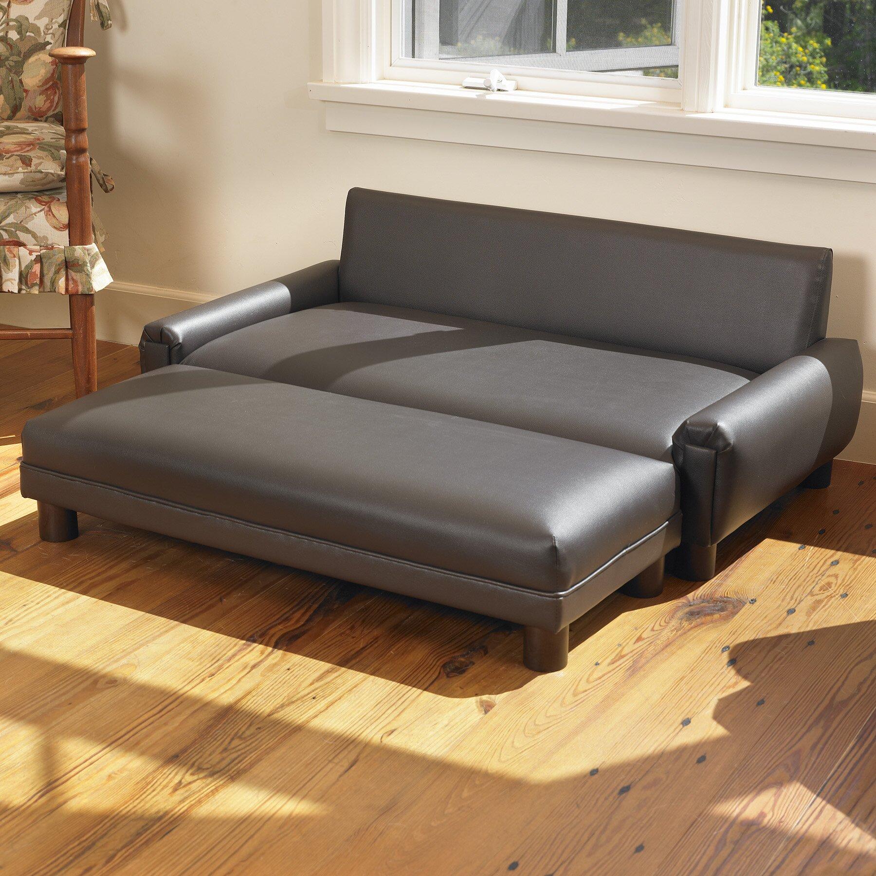 mission hills faux leather dog sofa reviews wayfair