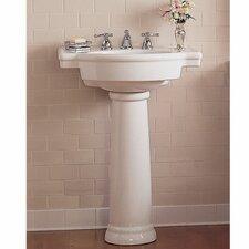 Retrospect 27 Pedestal Bathroom Sink With Overflow