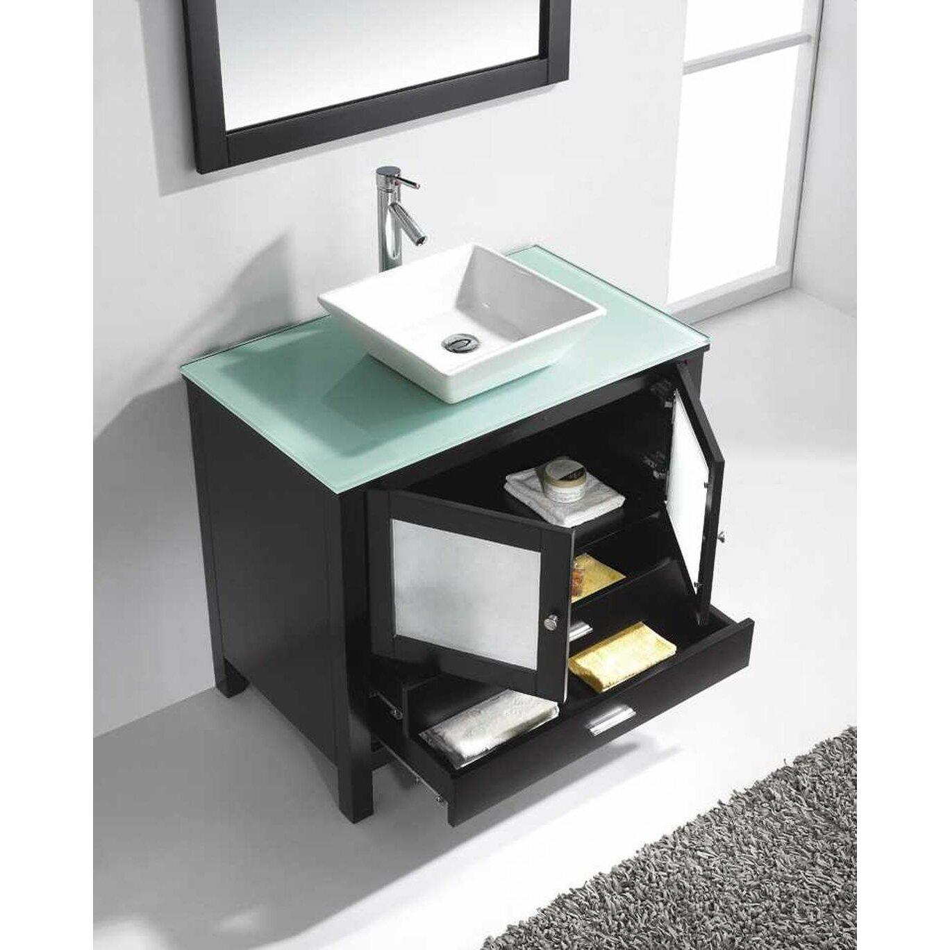 "Virtu USA Brentford 36"" Single Bathroom Vanity Set with ..."