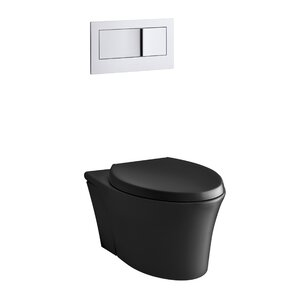 veil onepiece elongated dualflush wallhung toilet with reveal quiet
