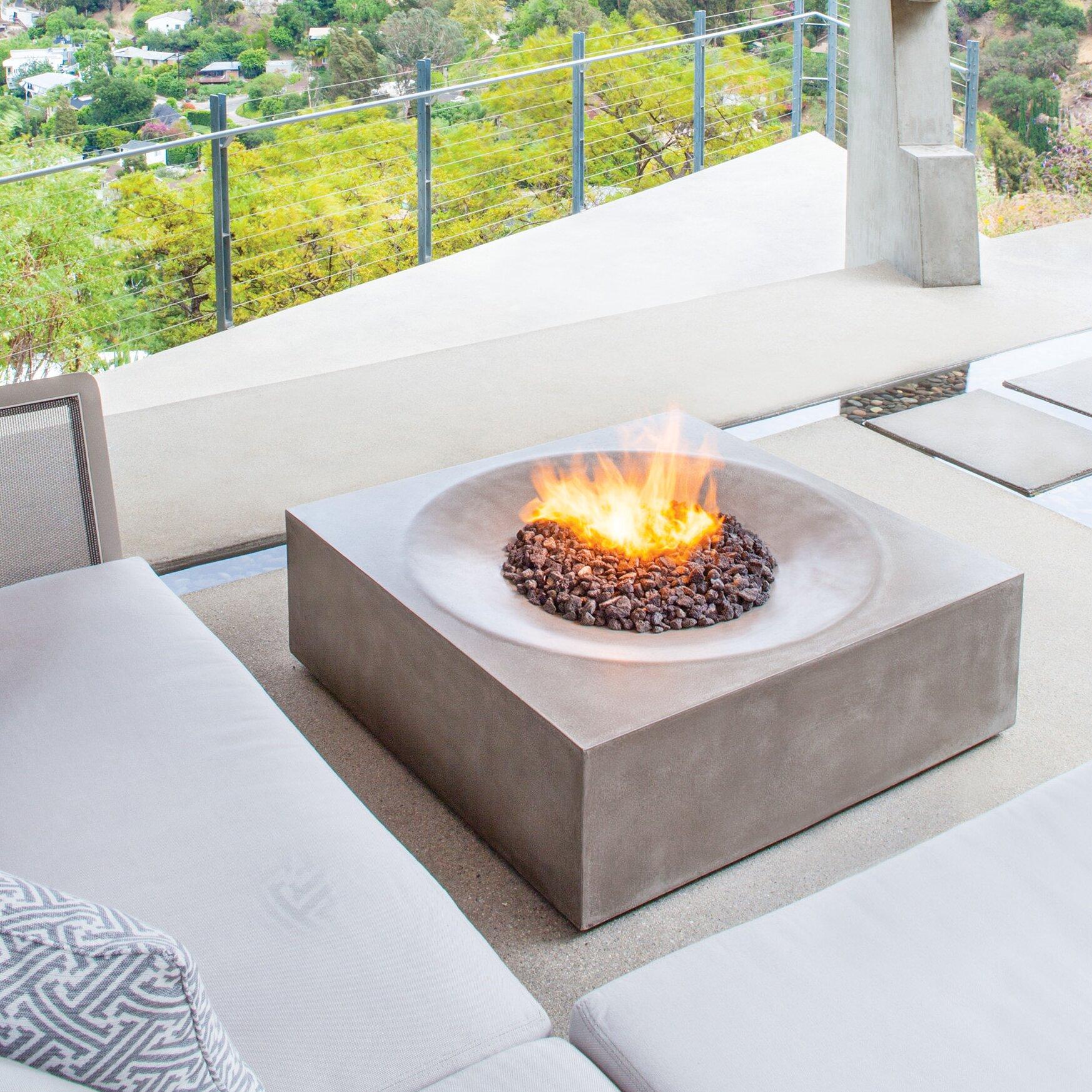 Bjfs Solstice Concrete Natural Gas Propane Fire Pit Table