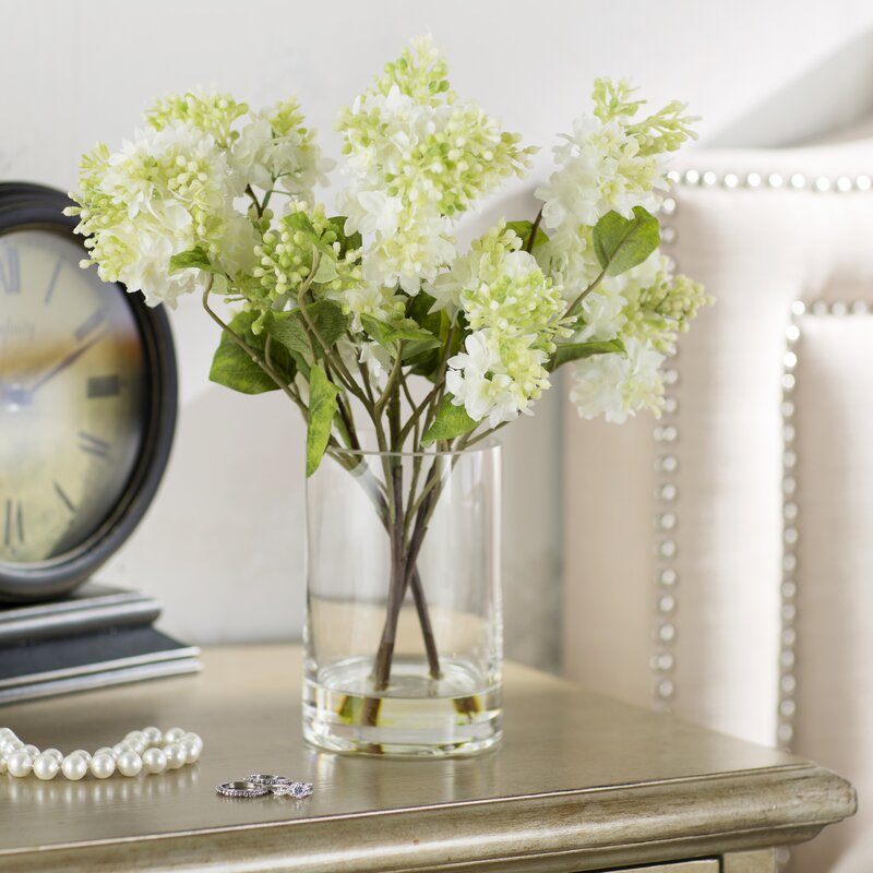 Beachcrest home quincy lilac silk flower arrangement in