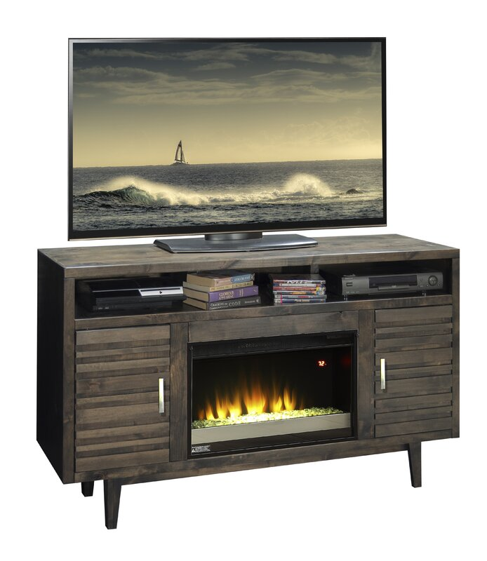 Electric Fireplace tv console with electric fireplace : Loon Peak Calavar 61
