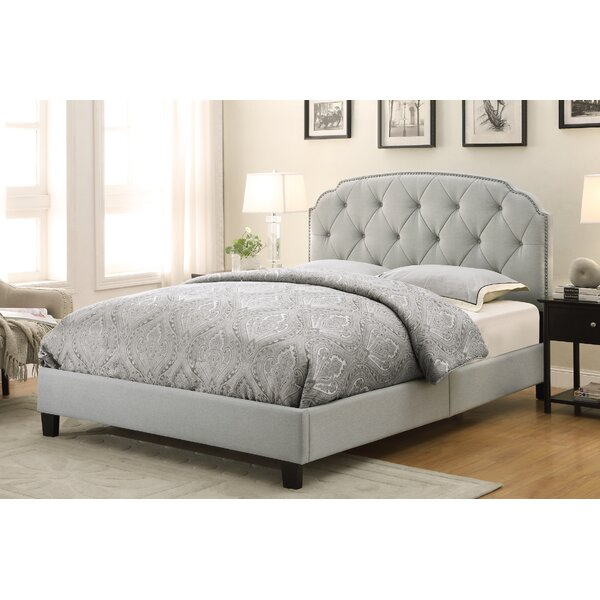 andover mills anson upholstered panel bed reviews wayfair - Panel Bed Frame