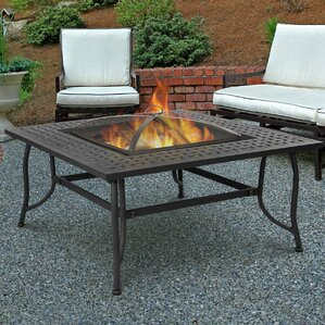 aluminum outdoor fireplaces & fire pits you'll love | wayfair