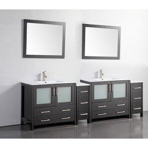 Elegant 96 Inch Double Vanity | Wayfair