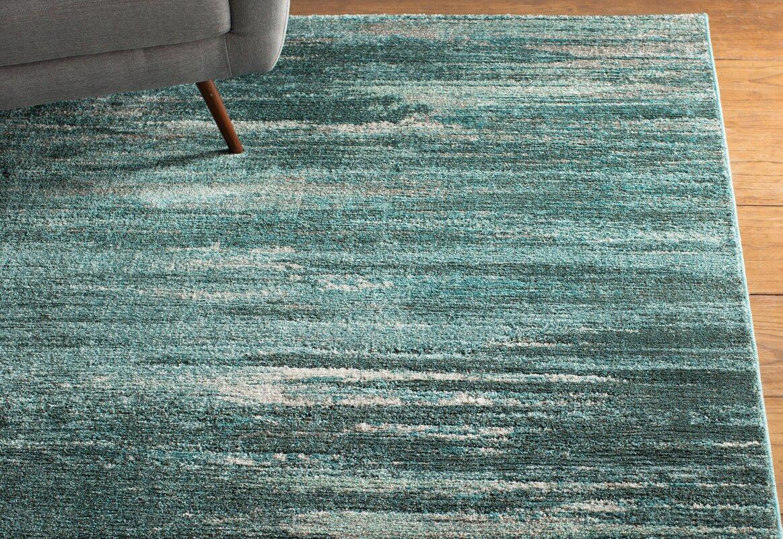 modern area rugs  allmodern - elias grayteal area rug