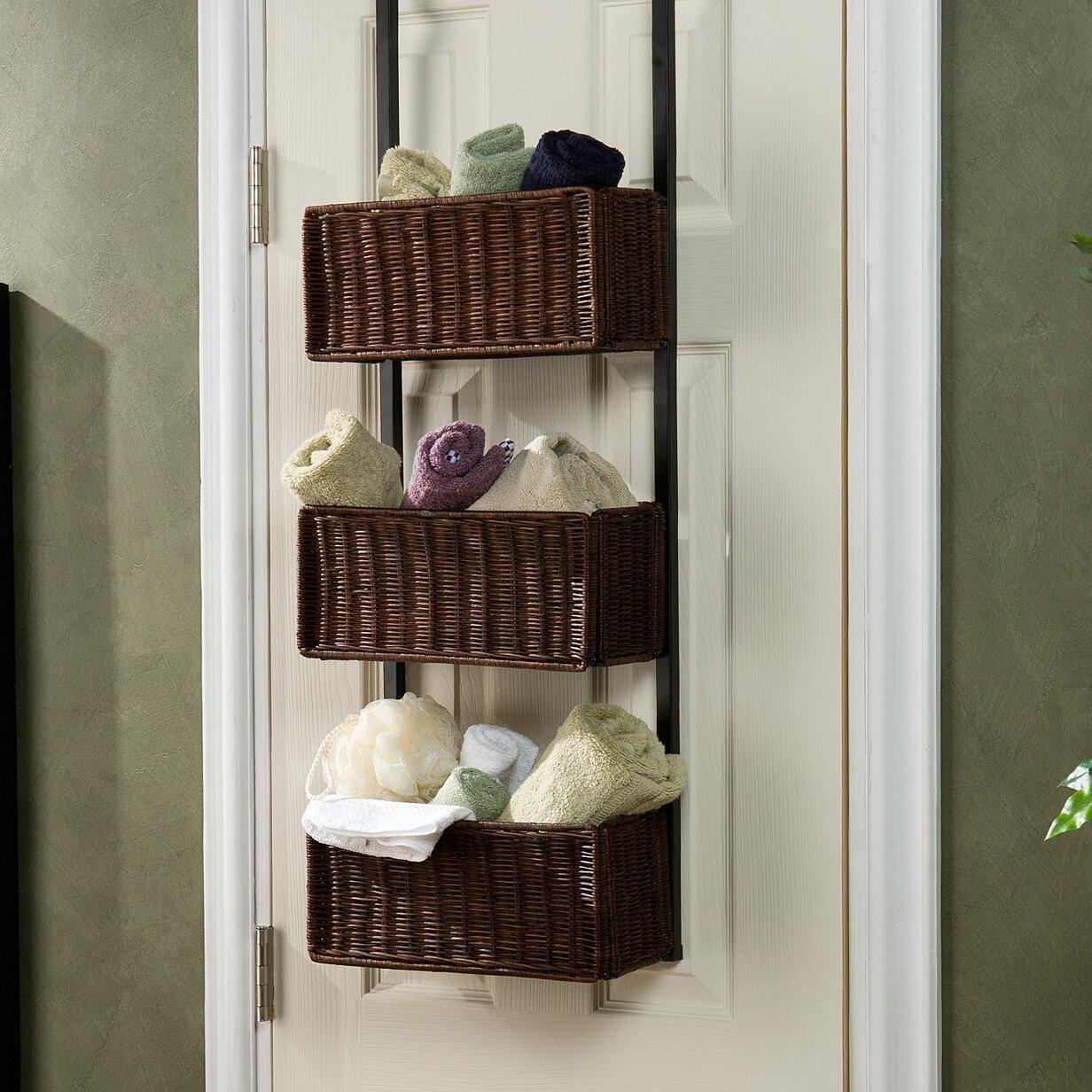 wildon home 3 tier overdoor hanging organizer reviews wayfair. Black Bedroom Furniture Sets. Home Design Ideas