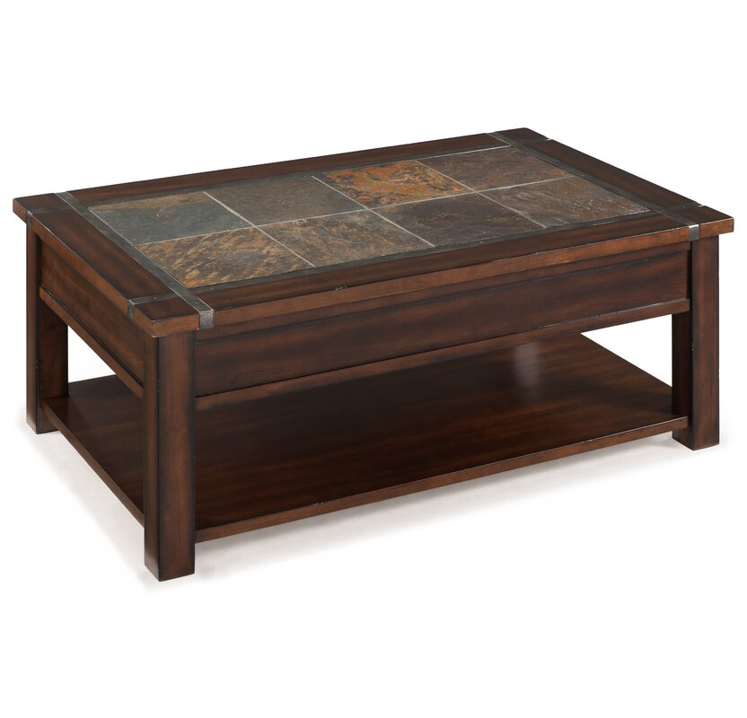 Magnussen Roanoke Coffee Table With Lift Top And Caster Reviews Wayfair