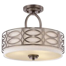 snellville 3light semi flush mount - Semi Flush Mount Lighting