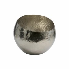 Hammered Nickel Plated Brass Decorative Bowl