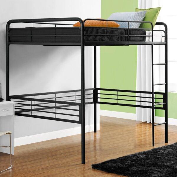 viv rae maximillian full loft bed reviews wayfair - Loft Bed Frames