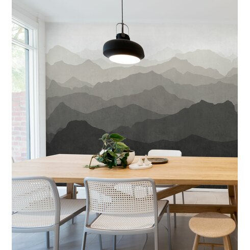Simpleshapes mountain mural 5 piece wallpaper panel set for 5 piece mural
