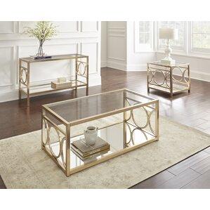 Glass Coffee Table Sets Youll Love Wayfair