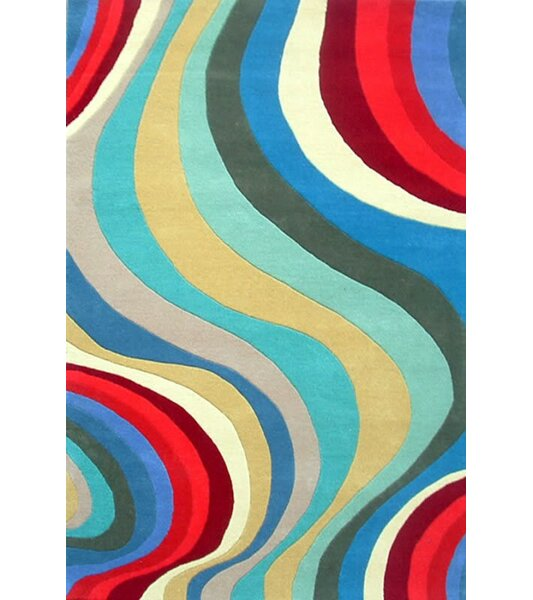Acura Rugs Modern Blue/Red Area Rug & Reviews