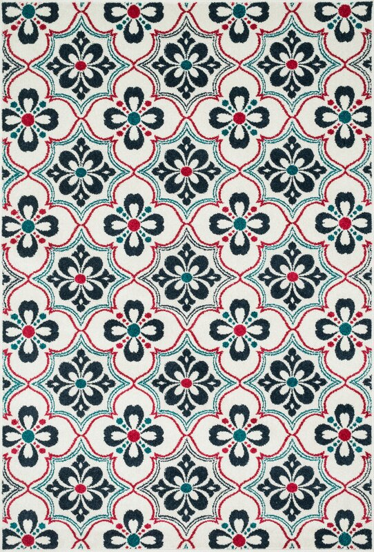 Loloi Rugs Catalina Blue Red Indoor Outdoor Area Rug