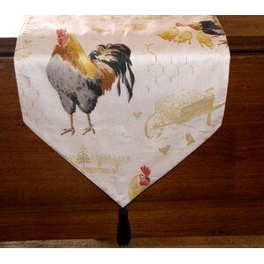 Rooster Strut Table Runner