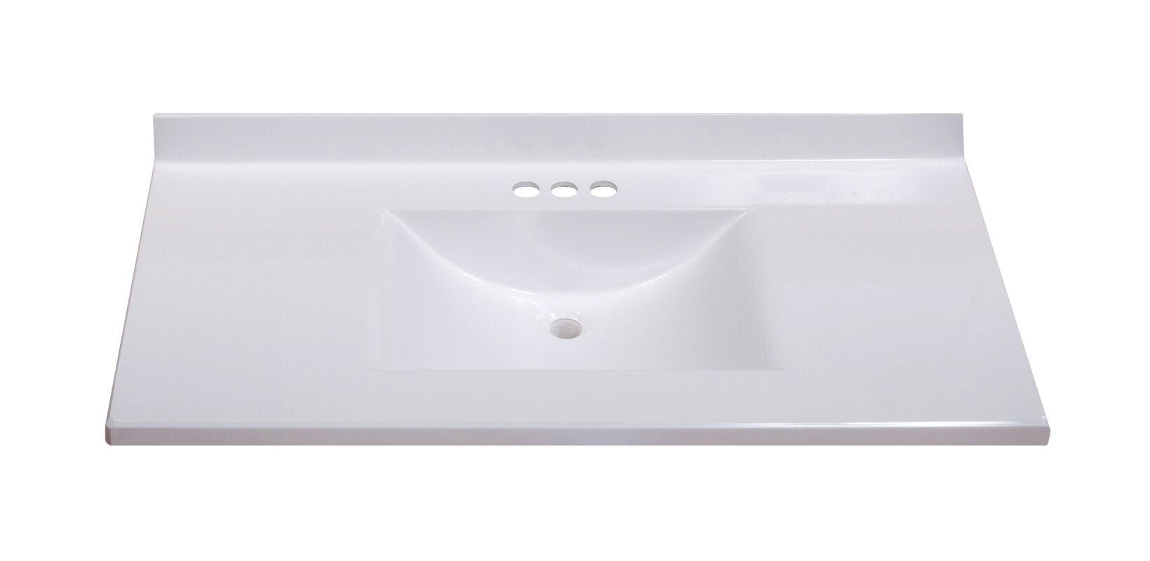 96 Inch Double Sink Vanity Top DESIGN ELEMENT Washington 96
