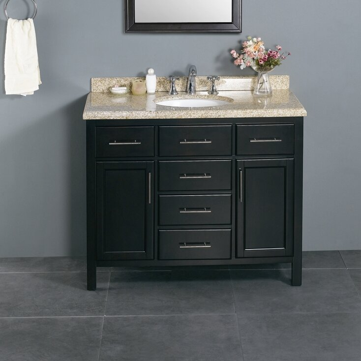 Milan 42 Single Bathroom Vanity Set