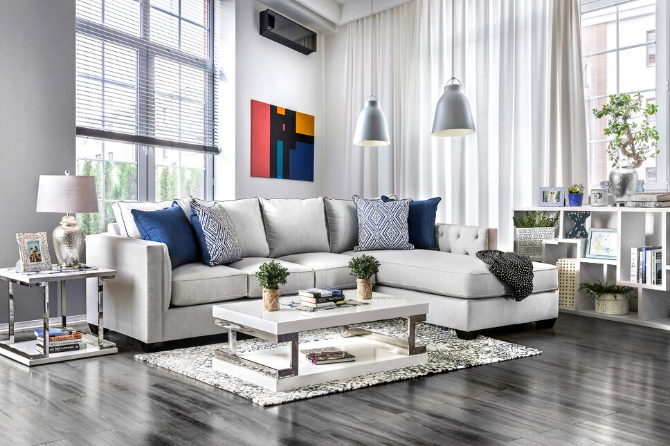 Modern & Contemporary Living Room Design Photo by Wayfair