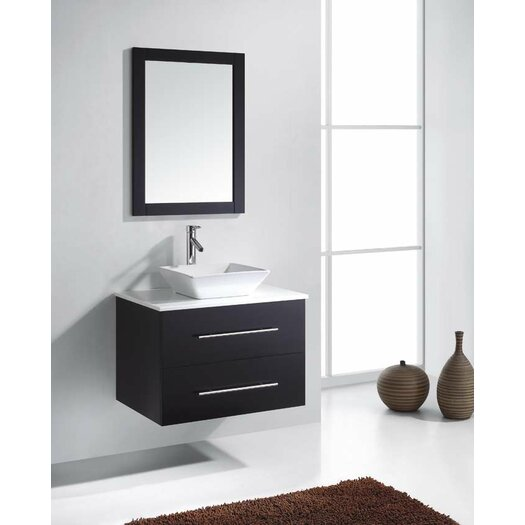 Marsala 30 single bathroom vanity set with white stone for Levi 29 5 single modern bathroom vanity set