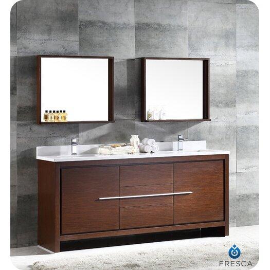 Fresca Trieste Allier 72 amp quot  Double Modern Sink Bathroom Vanity Set with Mirror. Trieste Allier 72 quot  Double Modern Sink Bathroom Vanity Set with