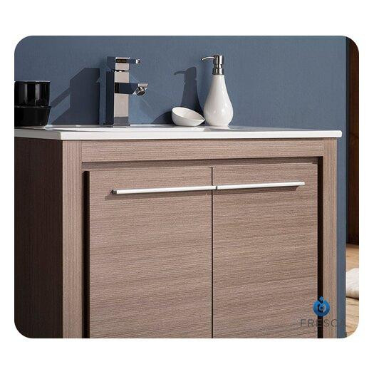 Fresca allier 30 single modern bathroom vanity set with for All modern bathroom vanity