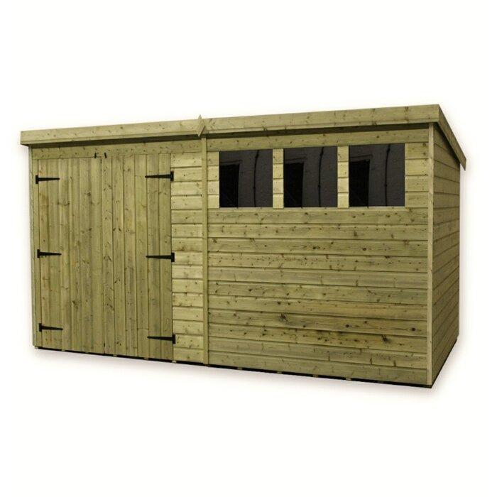 empire sheds ltd 14 ft w x 8 ft d wooden garden shed reviews wayfaircouk - Garden Sheds Galway