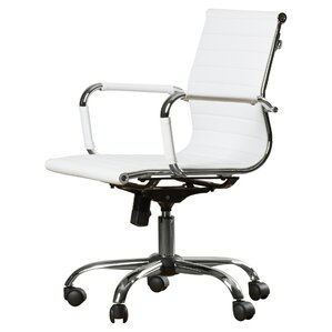 delaney lowback office chair - White Armless Office Chair