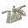 Brushed Nickel Divine Two Handle Centerset Bathroom Faucet