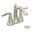 Brushed Nickel Savvy Two Lever Handle Centerset Bathroom Faucet