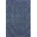 Diamond Hand-Woven Navy blue Indoor/Outdoor Area Rug