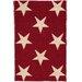 Star Red/Ivory Indoor/Outdoor Area Rug